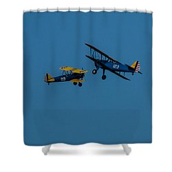Biplanes Near Collision 5x7 Shower Curtain