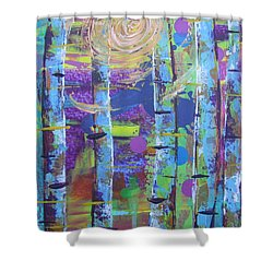 Birch 6 Shower Curtain