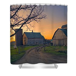 Birch Barn 2 Shower Curtain by Bonfire Photography