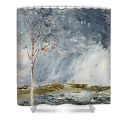 Birch I Shower Curtain
