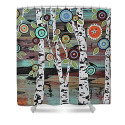 Birch Woods Shower Curtain by Karla Gerard