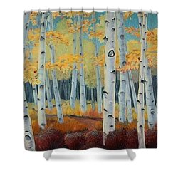 Birchwood Forest Shower Curtain