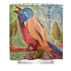 Bird At Rest Shower Curtain