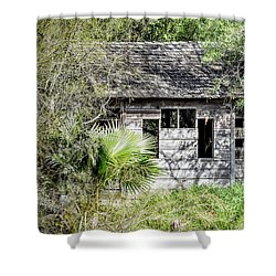 Bird Blind At Frontera Audubon Shower Curtain