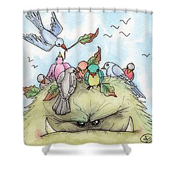 Bird Brained Shower Curtain