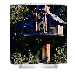 Bird Condos Shower Curtain