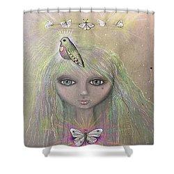 Bird From Spirit World  Shower Curtain