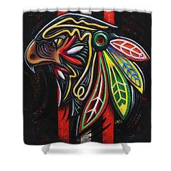 Bird Head Shower Curtain by Michael Figueroa