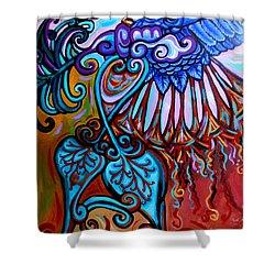 Bird Heart II Shower Curtain by Genevieve Esson