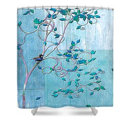 Bird In A Tree-1 Shower Curtain