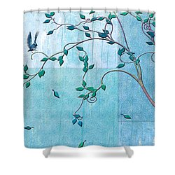 Bird In A Tree-2 Shower Curtain