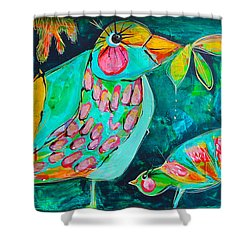 Bird Lovie Shower Curtain
