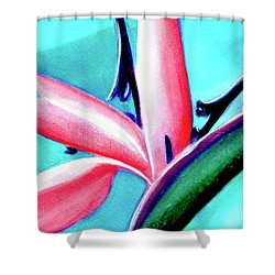 Bird Of Paradise Flower #290 Shower Curtain by Donald k Hall