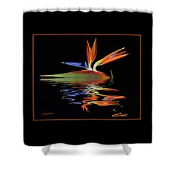 Bird Of Paradise On Water Shower Curtain