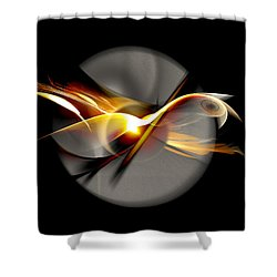 Bird Of Passage Shower Curtain by Aniko Hencz
