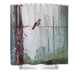 Bird On A Wire Shower Curtain
