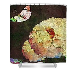 Flower Knows, When Its Butterfly Will Return Shower Curtain