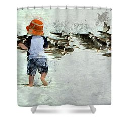 Bird Play Shower Curtain