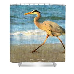 Bird With A Purpose Shower Curtain