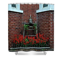 Birdhouse On The Tier Shower Curtain by Frank J Casella