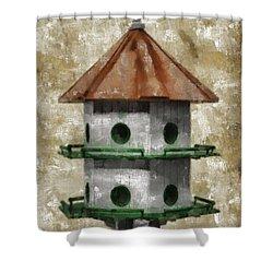 Birdhouse Painting Shower Curtain