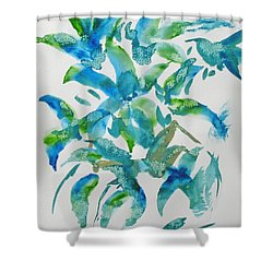 Birds And Blooms Shower Curtain