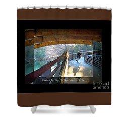 Birds Boaters And Bridges Of Barton Springs - Bridges One Greeting Card Poster V2 Shower Curtain by Felipe Adan Lerma