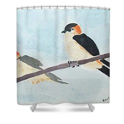 Birds Couple Shower Curtain