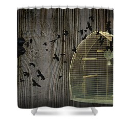 Birds Gone Wild Shower Curtain