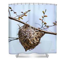 Shower Curtain featuring the photograph Birds Nest by Christina Rollo