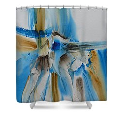 Bird's Of A Feather Shower Curtain by Donna Acheson-Juillet