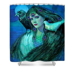 Birds Of Duality Fantasy Art Shower Curtain