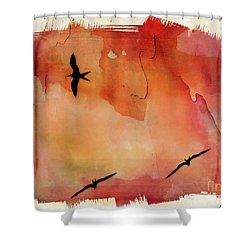 Birds Of Pedasi, In The Dry Arc Of Panama II Shower Curtain