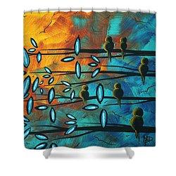 Birds Of Summer By Madart Shower Curtain by Megan Duncanson