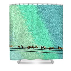 Bird On The Wire Shower Curtain
