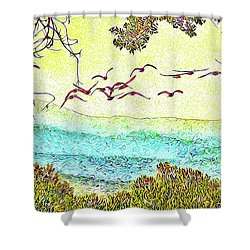 Birds Over Horizon - Boulder County Colorado Shower Curtain