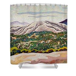 Birdseye Landscape #4 Shower Curtain by Dale Beckman