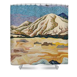 Birdseye Landscape #5 Shower Curtain by Dale Beckman