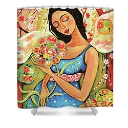 Birth Flower Shower Curtain