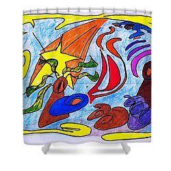 Birth Narrative Shower Curtain