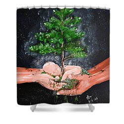 Birth Of A Dream Shower Curtain