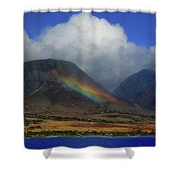 Birth Of A Rainbow Shower Curtain
