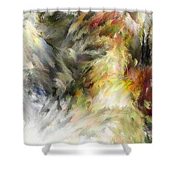 Birth Of Feathers Shower Curtain by Dale Stillman