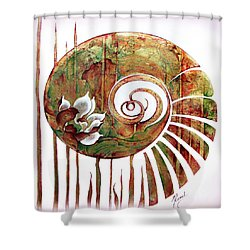 Birth Of Lotus Land Shower Curtain by Anna Ewa Miarczynska