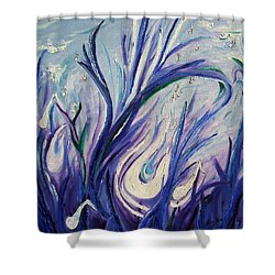 Birth Of Music Shower Curtain
