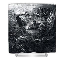 Birth Of Pegasus Shower Curtain