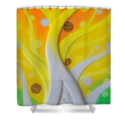 Birth Yellowgold 3 Shower Curtain