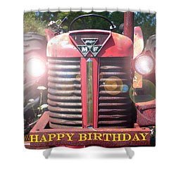 Birthday Card -- Big M-f Shower Curtain