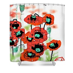 Birthday Field Of Flowers  Shower Curtain