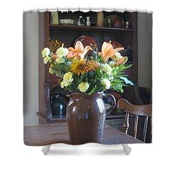 Birthday Jug Of Flowers Shower Curtain by Deborah Dendler